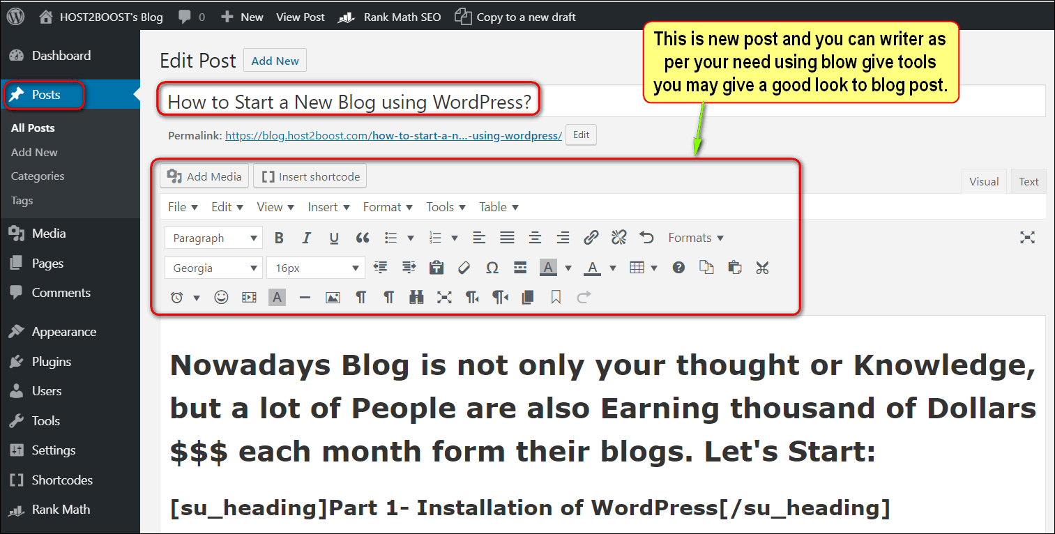 How to Start a New Blog Website using WordPress